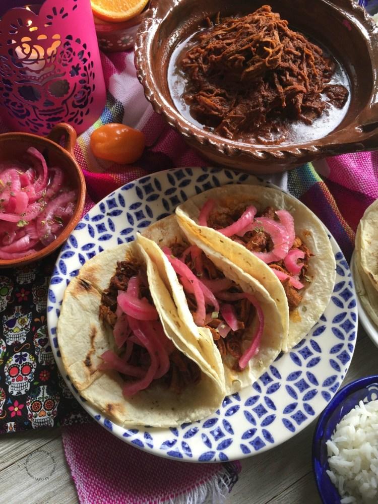 Tacos de Puerco Pibil estilo Yucatán
