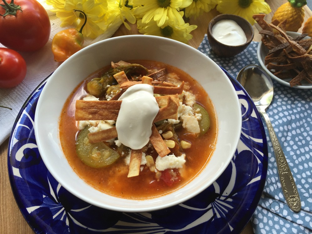 Mexican Zucchini Flower Soup Easy Recipe for the Holidays