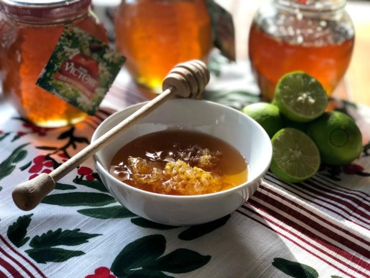 Ingredientes para la margarita de miel