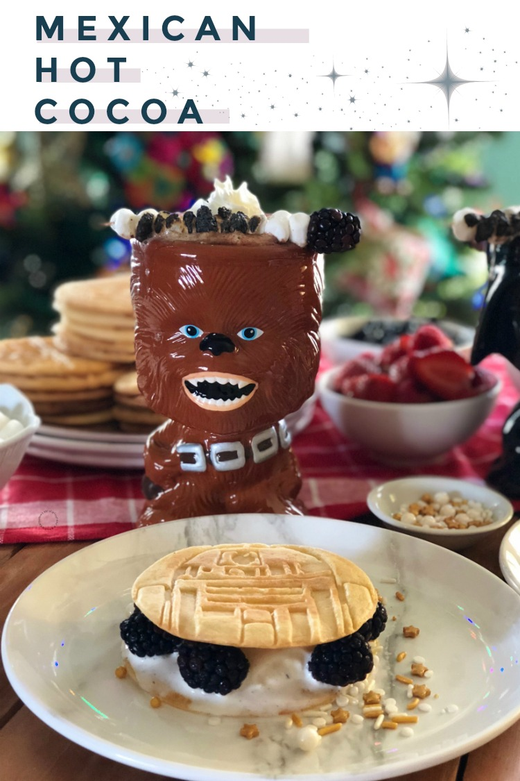 Mexican Hot Cocoa and the Galactic Pancake Ice Cream Sandwiches for a Star Wars Inspired Feast