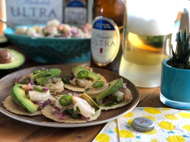 Shrimp Ceviche Tostaditas a light appetizer for any occasion