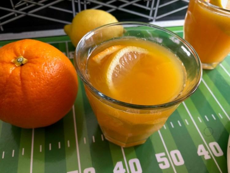 Sparkly orangeade mocktail
