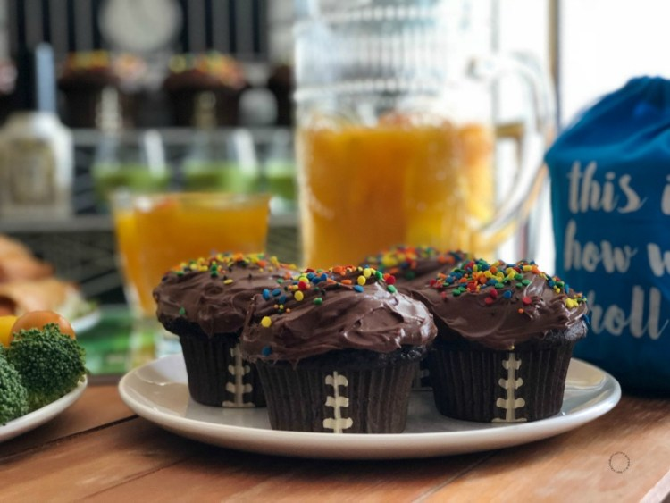 Touch Down Chocolate Cupcakes