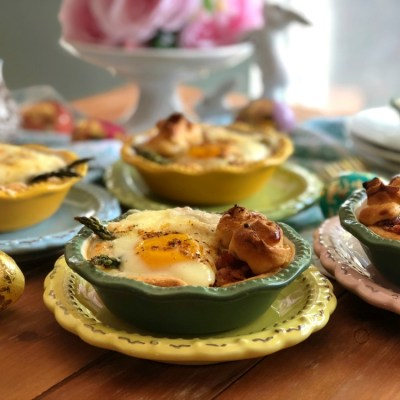 Bacon Asparagus Egg Mini Pies