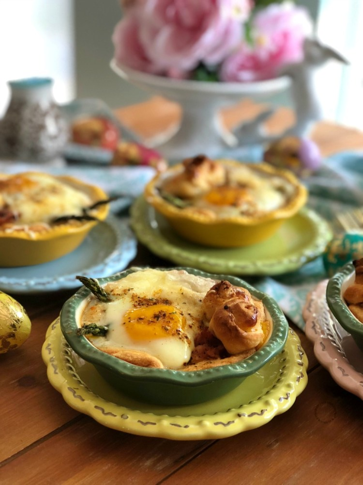 Thebacon asparagus egg mini pies perfect for Easter menu
