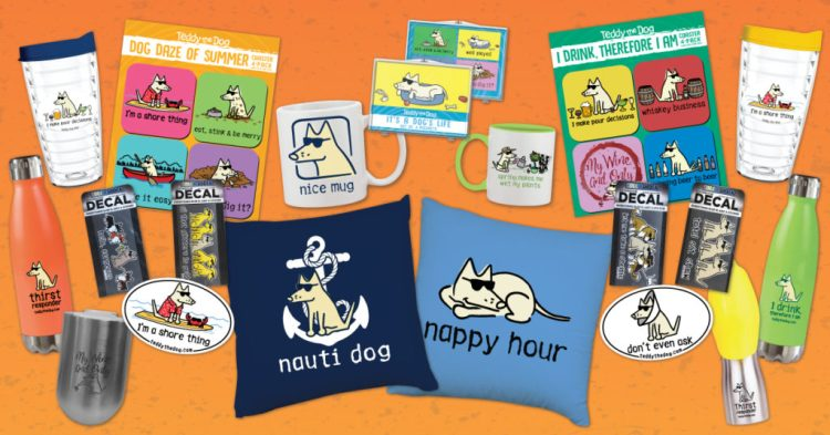 Purchase your favorite Teddy the Dog products clicking on the banner and start the shopping spree!