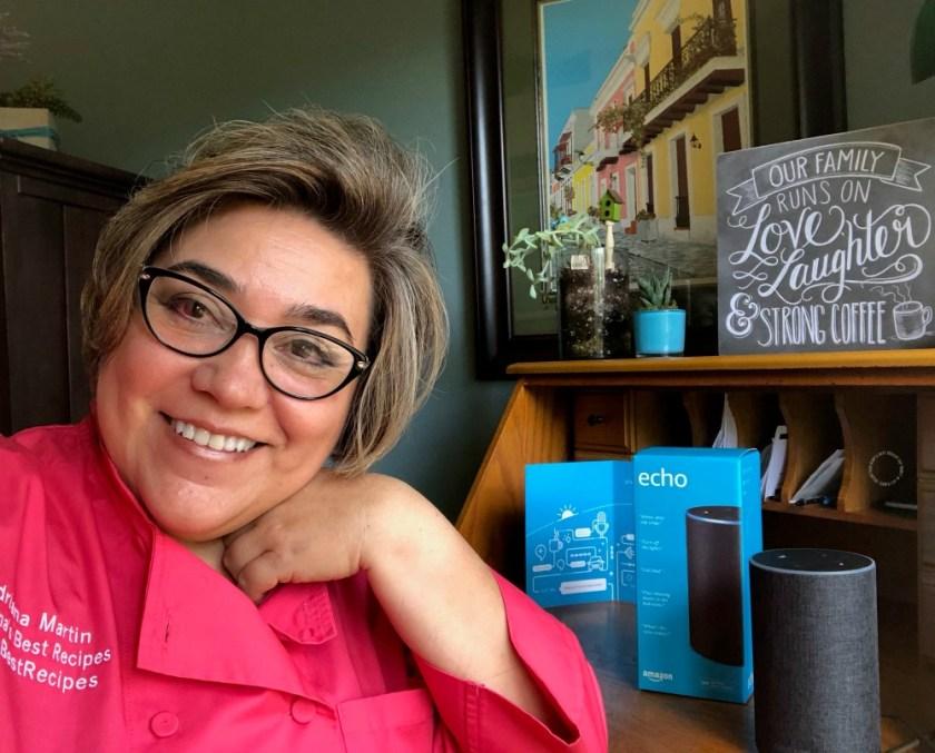 Chef Adriana Martin cuenta su experiencia con Alexa Skill Blueprints