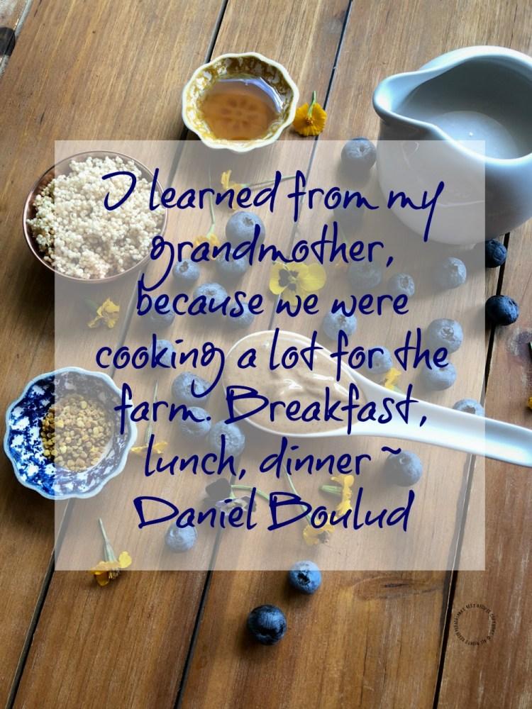 Daniel Boulud inspirational quote in my Alexa Skill Blueprints