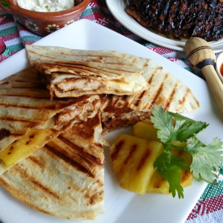 La Gringa a typical quesadilla made with pastor