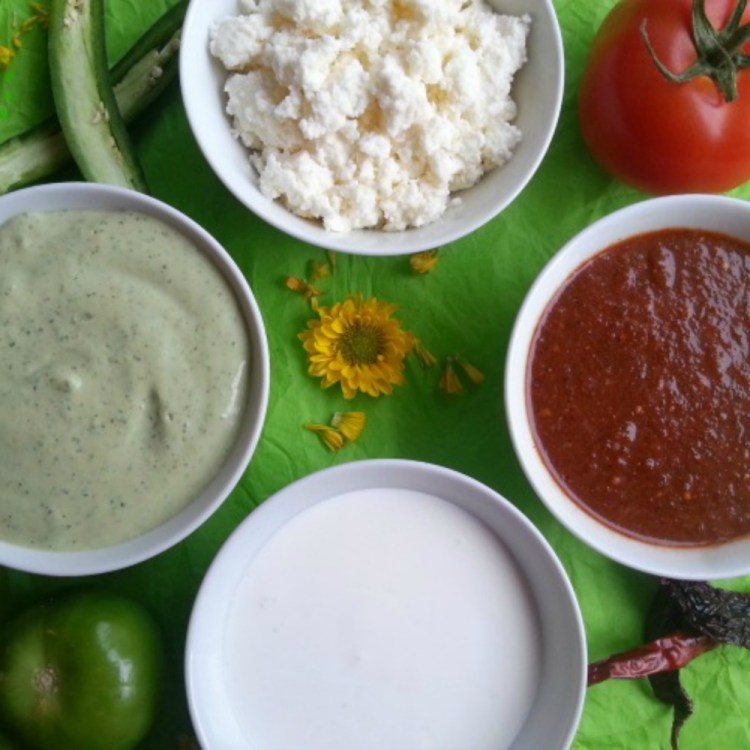 Salsas and Guacamole are very important garnishes in Mexican cuisine