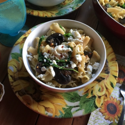 Campanelle Pasta with Mushrooms, Delightful!
