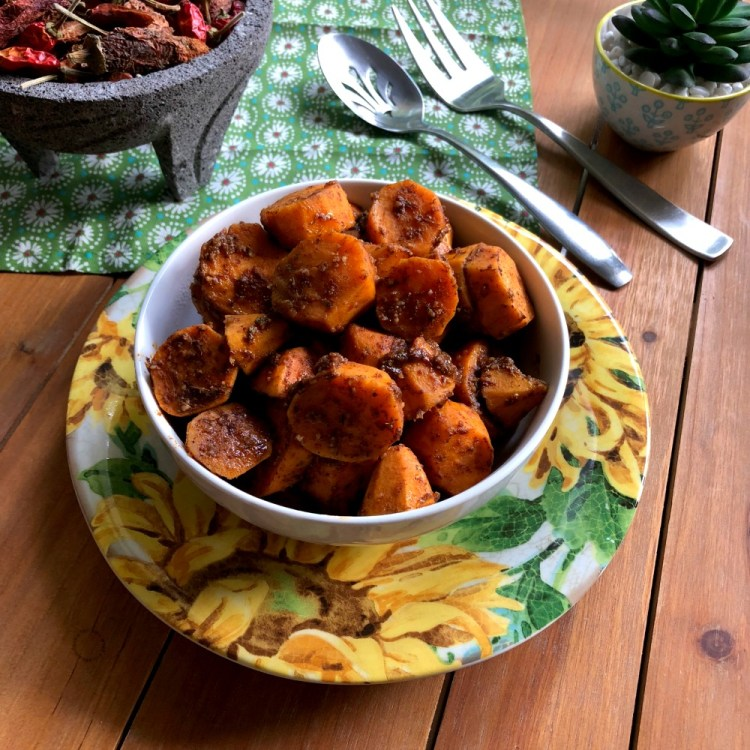 Serve the butter chipotle sweet potatoes as a side or enjoy as a main dish