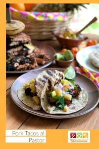 Indulge on Pork Tacos al Pastor made with lean pork loin roast seasoned with a traditional pastor marinade