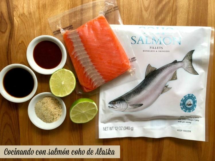 Cocinando delicioso y facil con salmon coho de Alaska
