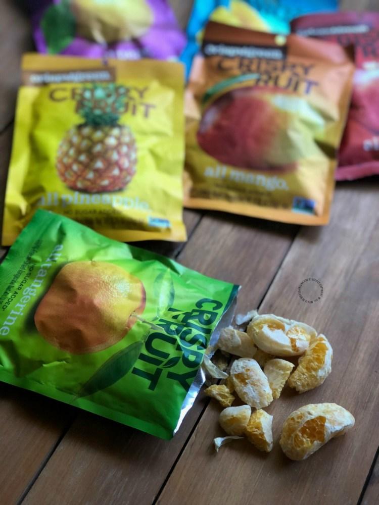 Crispy Fruit snacks hechos con fruta natural