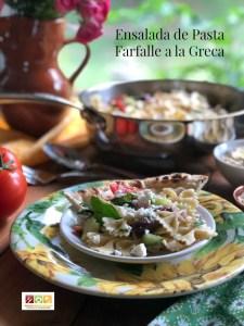 Ensalada de pasta farfalle a la greca una opción perfecta para la cena familiar