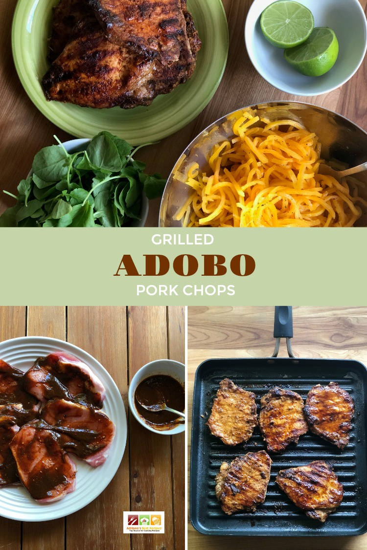 Include the grilled adobo pork chops on your weekly menu