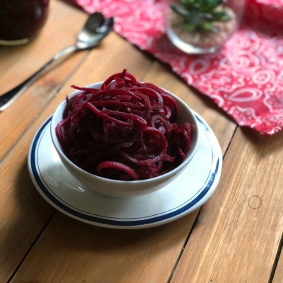 Pickled Beets with Vinegar and Spices