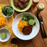 The grilled adobo pork chops are the perfect dish to celebrate the fall