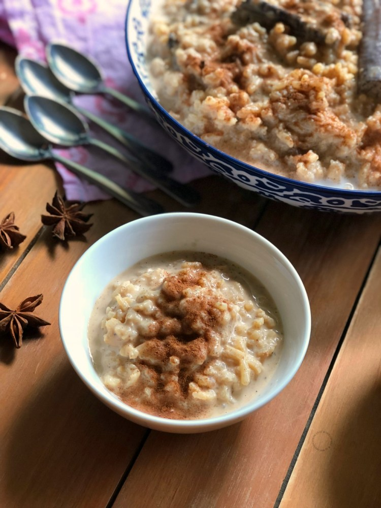 A sweet and soothing chai latte rice pudding recipe
