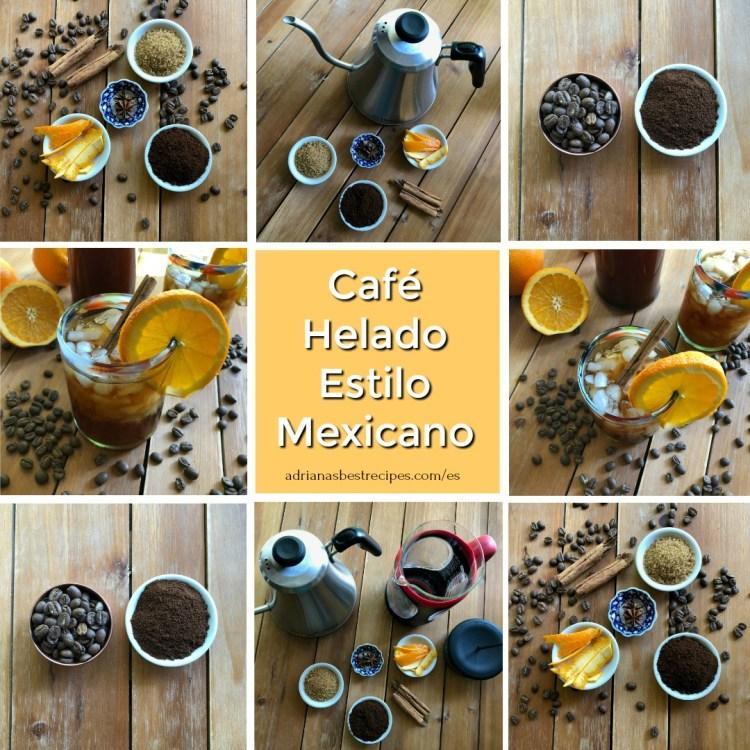 Como preparar el Cafe Helado Estilo Mexicano