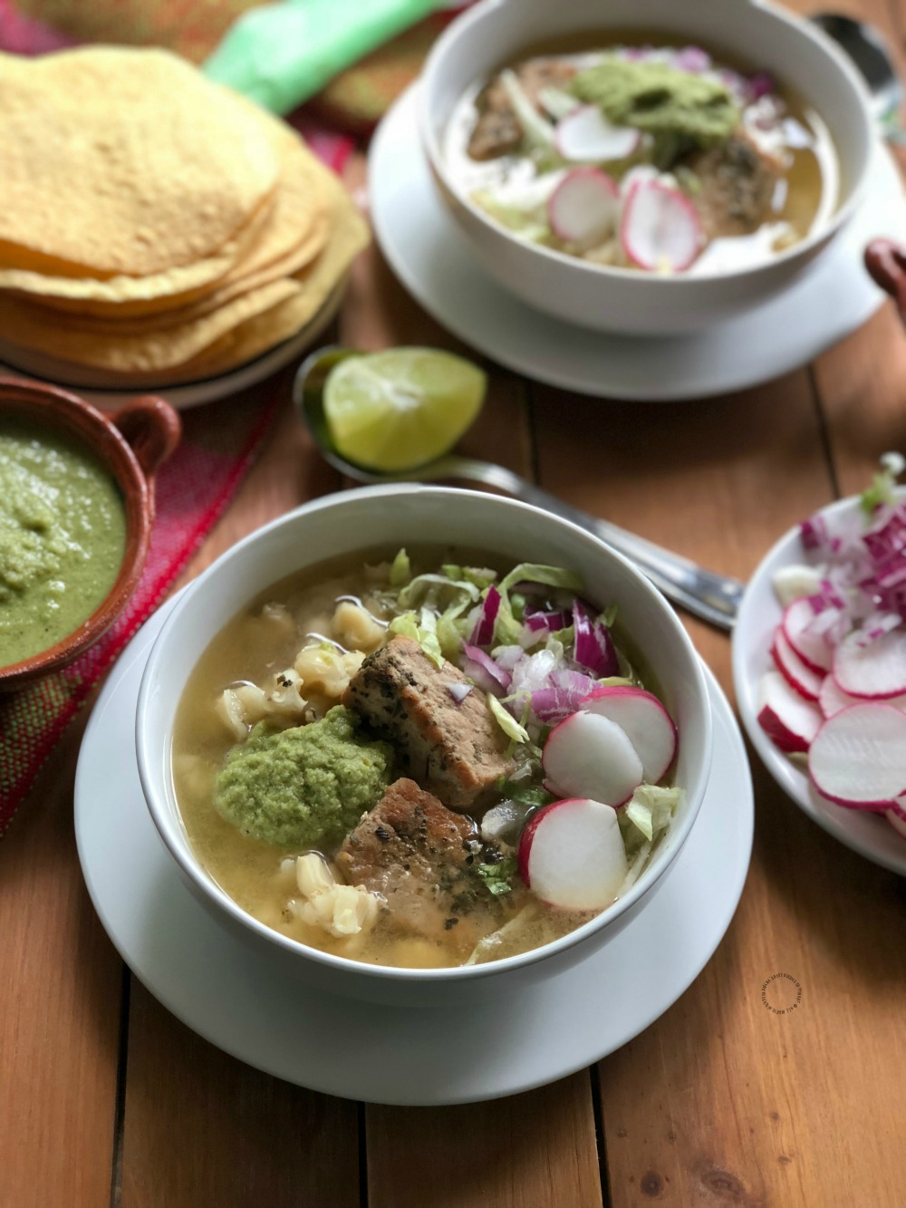 This holiday season enjoy an Instant Pot Green Pork Pozole