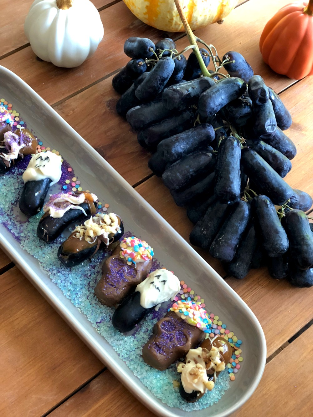 This Spooky Moon Drop Grapes are tasty addition to the Halloween  menu