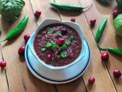 Cranberry Tomatillo Spicy Salsa Recipe