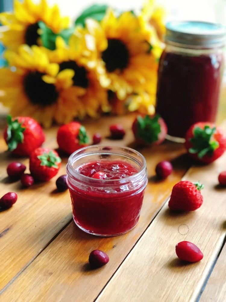 Delicious Strawberry Cranberry Homemade Jam