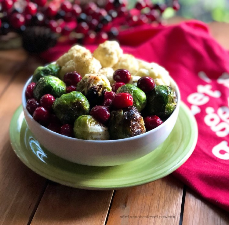 Holiday Roasted Veggies with Cranberries a yummy side dish