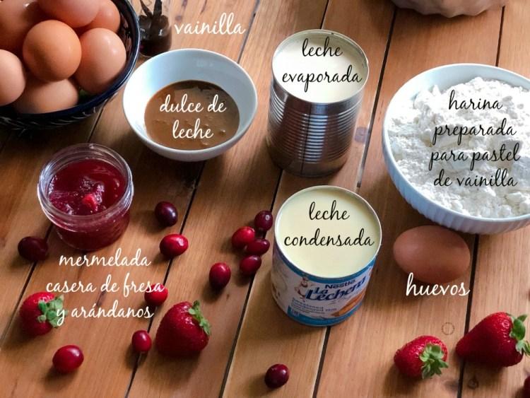 Ingredientes necesarios para el Pastel Imposible de Vainilla