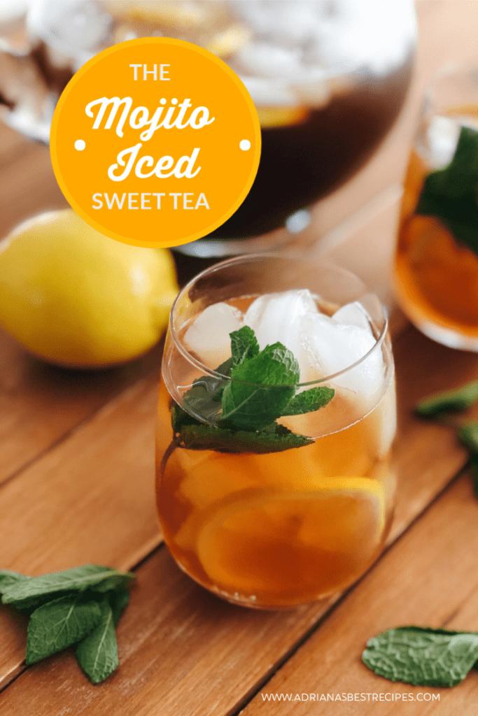 Make mojito iced sweet tea using Tetley Tea