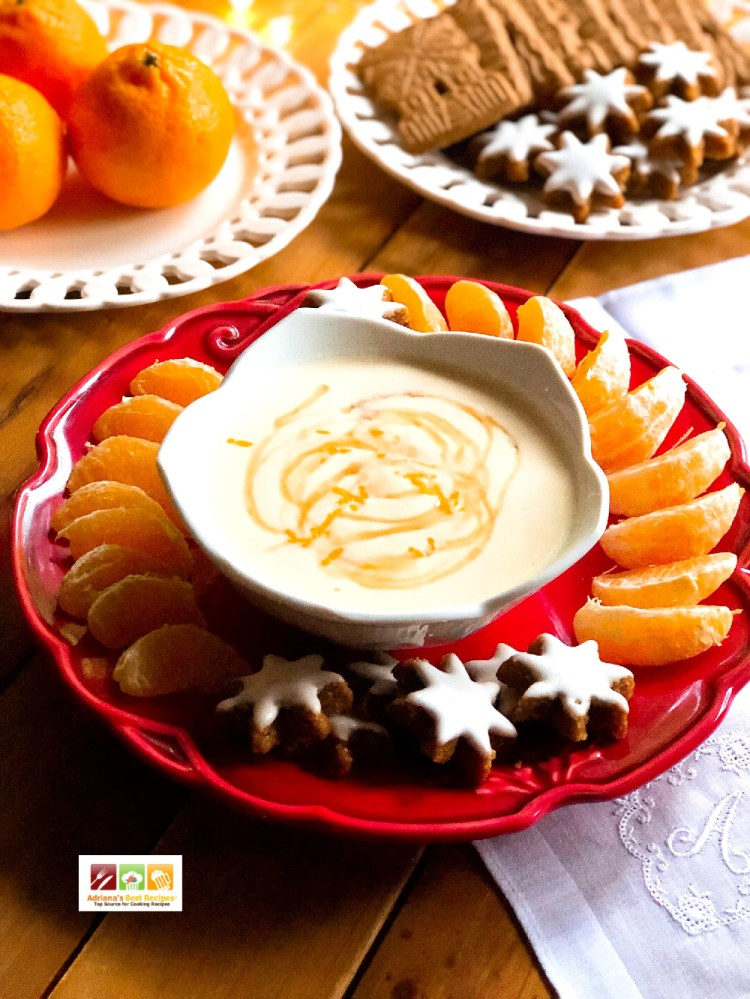The ricotta clementine dip served with gingerbread cookies