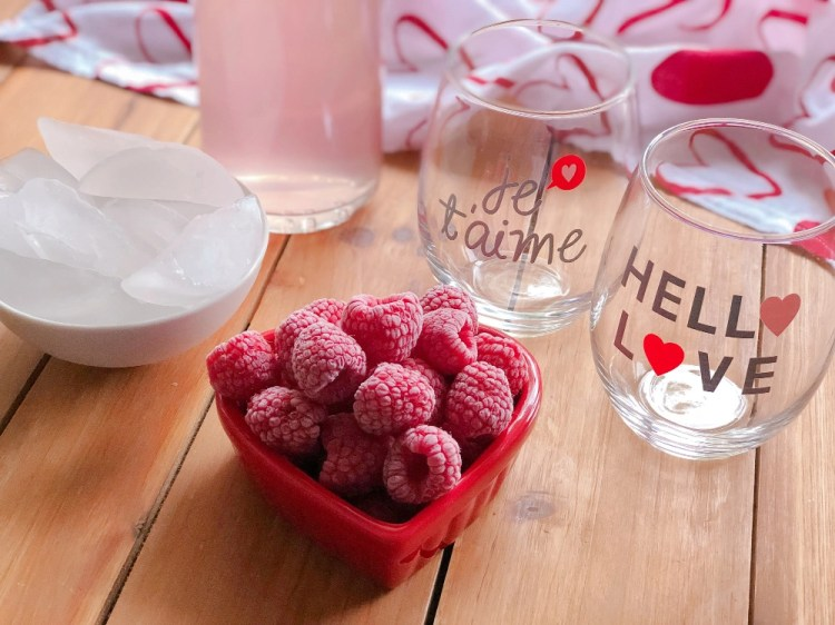 Ingredientes para la Limonada Rosada Italiana