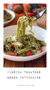 The Florida Tomatoes Green Fettuccine is ready in less than 20 minutes