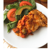 Delicious Spanish Tuna Pie for Lenten Season made with canned tuna, potatoes and Spanish flavors
