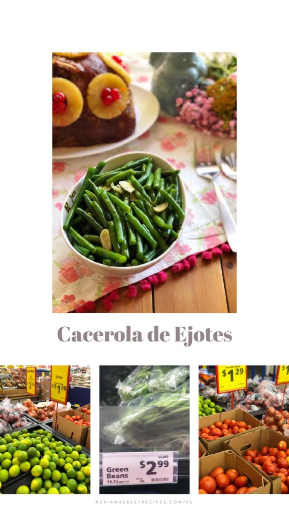 Deliciosa cacerola de ejotes verdes blanqueados y cocinados en una sartén con ajo y aceite de oliva