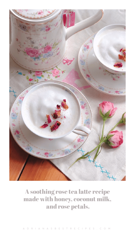 The rose tea is believed to help with stress management