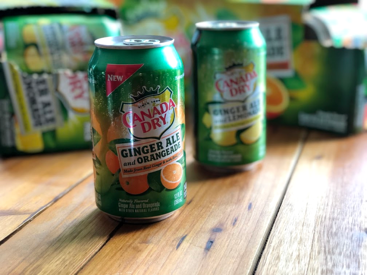 Canada Dry Ginger Ale with Lemonade and Orangeade is a twist on a relaxing favorite. Perfect to upgrade your summer.
