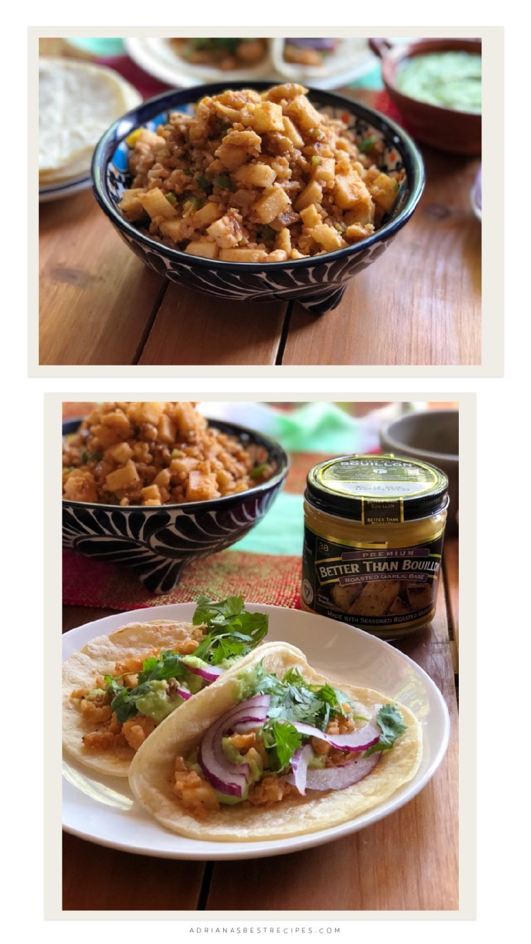 The meatless tacos are ready in less than 20 minutes