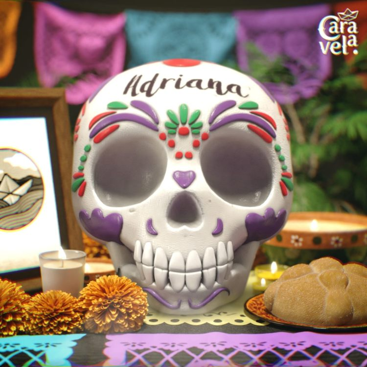 Personalized sugar skulls are a must for the Day of the dead celebration