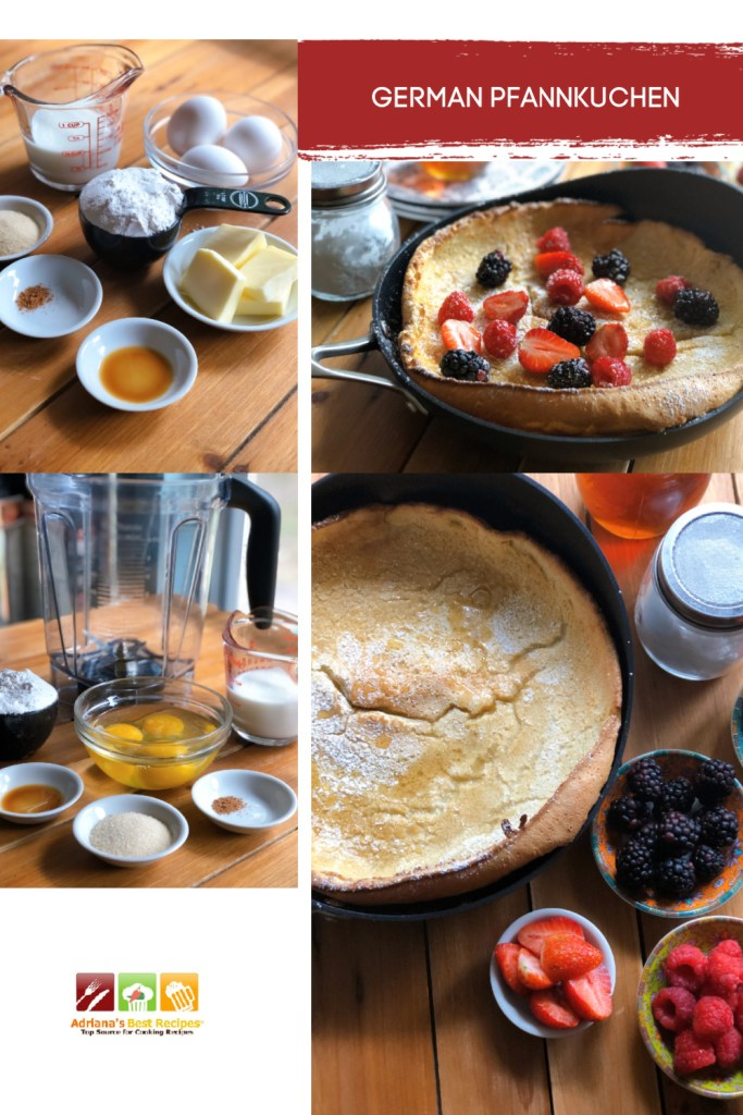 The perfect German Pfannkuchen or Dutch baby uses room temperature ingredients