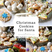 We made Christmas cookies simulating edible Christmas trees and snowflakes. These sweet treats are perfect for the enjoyment of Santa and the whole family. These cookies have classic sugar cookie dough with almond flavor.