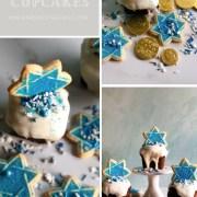 Hanukkah Cupcakes, Star of David Cookies and Gilt