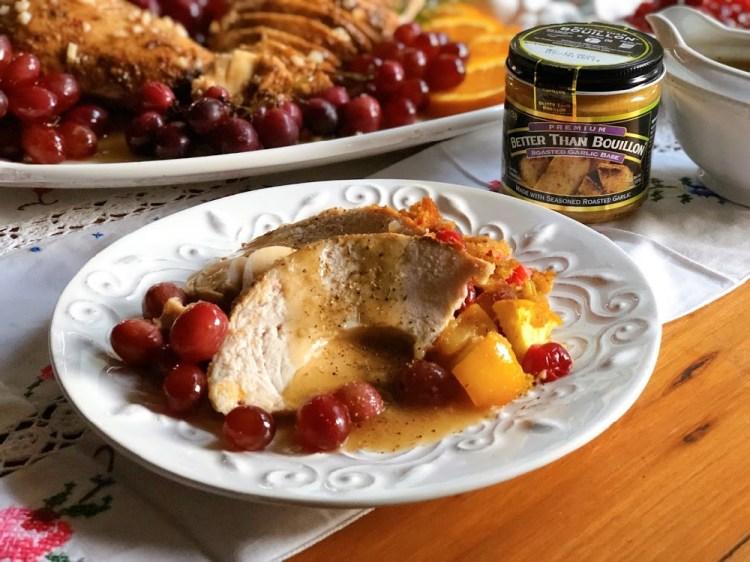 Roasted Garlic Turkey Dinner with Better Than Bouillon roasted garlic paste