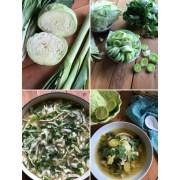 Esta receta para la sopa de col vegetariana es para aquellos que buscan una opción de dieta ligera, con vegetales verdes o bien para aquellos que están comenzando un régimen de dieta con sopas. Esta receta tiene repollo, puerros, acelgas y caldo de verduras bajo en sodio.