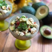Ceviche Vegano con Aguacate y Coliflor