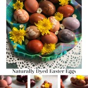 Naturally Dyed Easter Eggs with vintage designs
