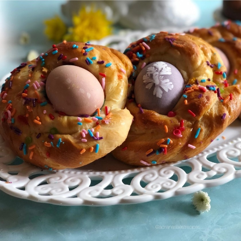 The braided bread is a tradition for Easter that many countries embrace
