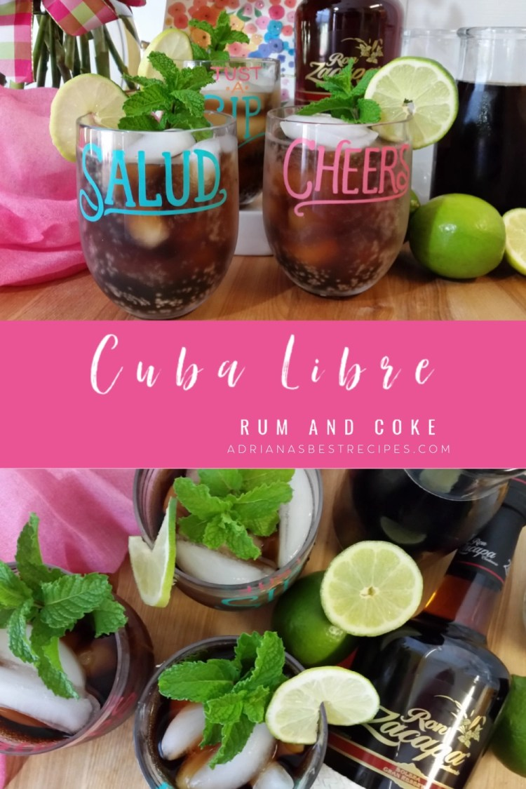 Cuban cocktail with rum and coke